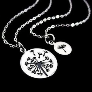 Jewelry - Mother Daughter Silver Dandelion Necklace Gift Set